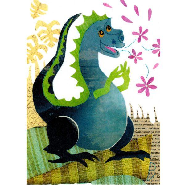 Postikortti A6 'Onnellinen Lohikäärme'