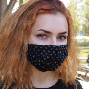 Maski Musta pikkukukilla