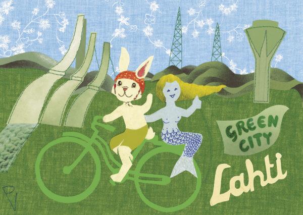 Postikortti-A6-'Lahti-Green-City'